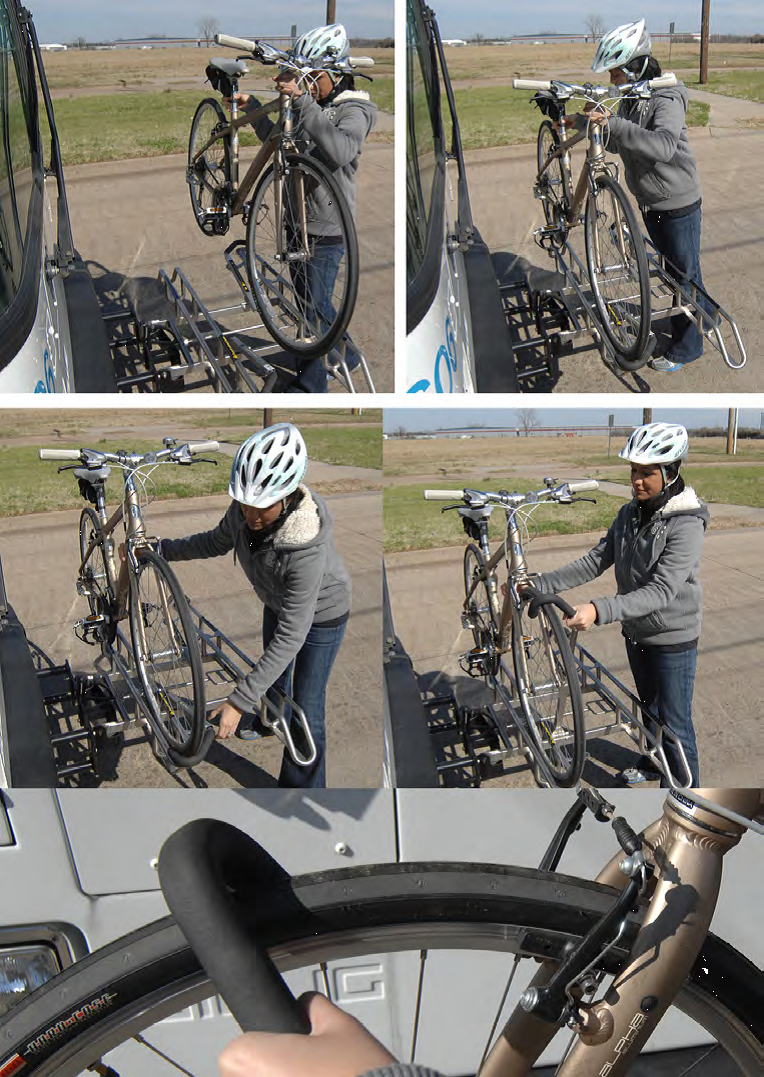loading bike on bus rack