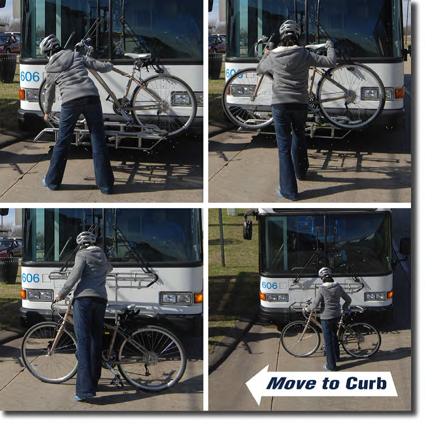 Unloading Bike from Bus